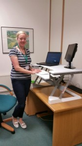 Ellie Taylor, Insight Health Screening standing with her new WorkFit T